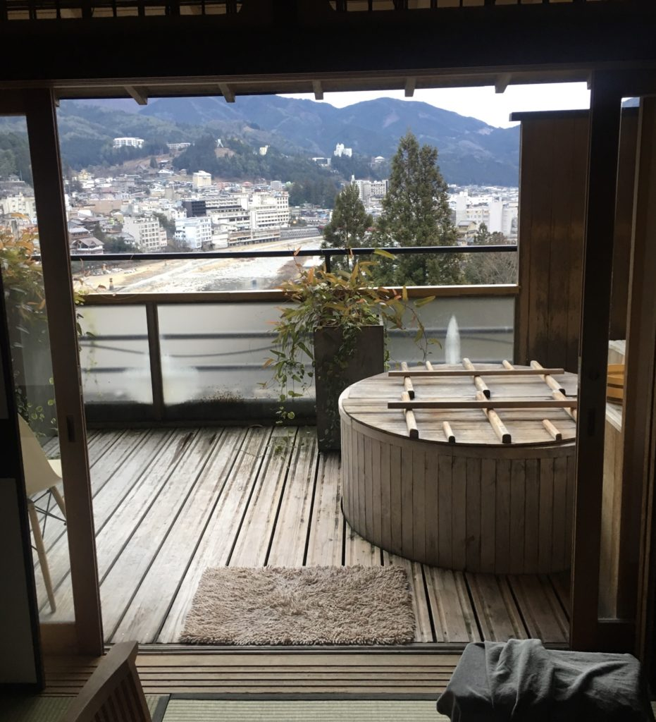 下呂観光ホテル:露天風呂付き客室